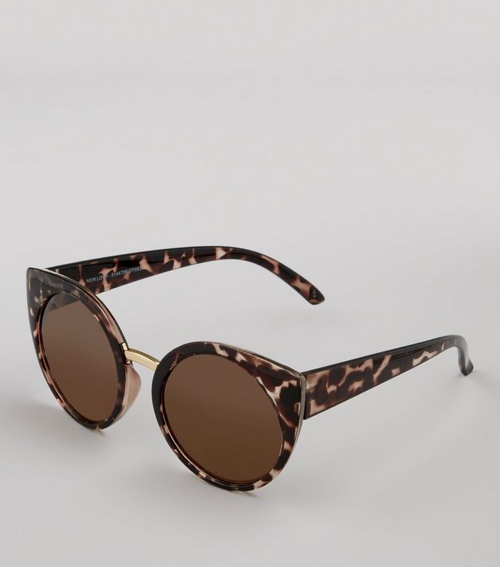 5e4d947aab ... Brown Tortoiseshell Oversized Round Sunglasses. ×. ×. ×. Shop the look