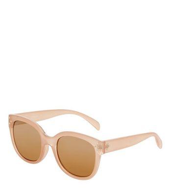 Mink Retro Sunglasses New Look