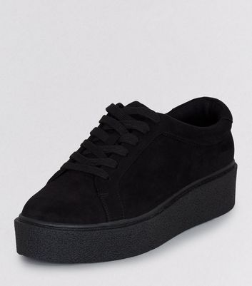 New Look Teens Suedette Black Creepers ftxqnzCP1w