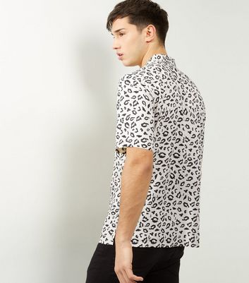 Black Animal Print Short Sleeve Shirt New Look