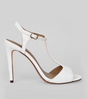 White T Bar Heels   New Look