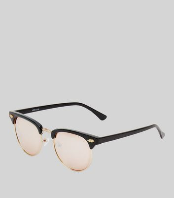 Black Mirror Lens Sunglasses New Look