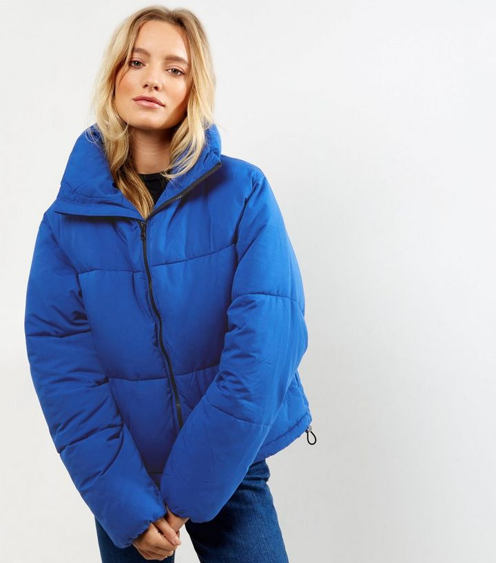 60ad945df0f6 Tall Blue Cropped Puffer Jacket