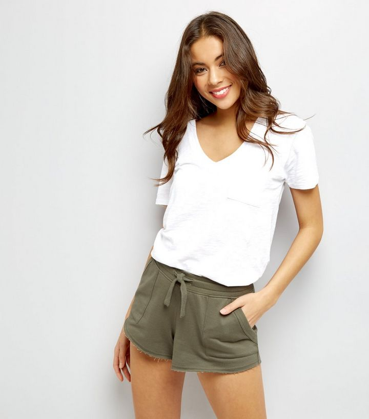 undefeated x top-rated cheap purchase cheap Khaki Tie Waist Shorts Add to Saved Items Remove from Saved Items