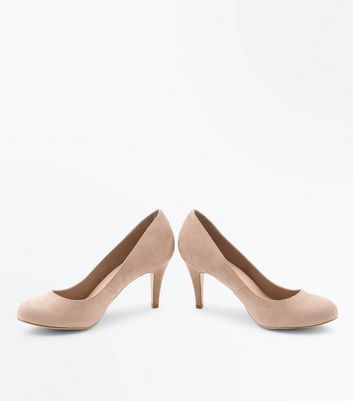 Wide Fit Light Brown Suedette Court Shoes New Look