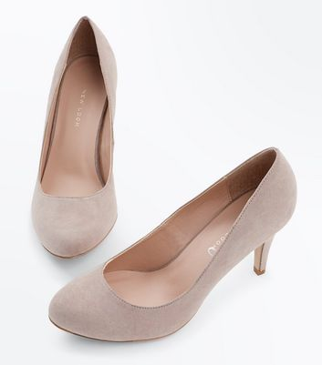 Wide Fit Mink Suedette Court Shoes New Look