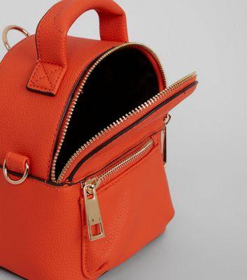 Orange Mini Backpack New Look