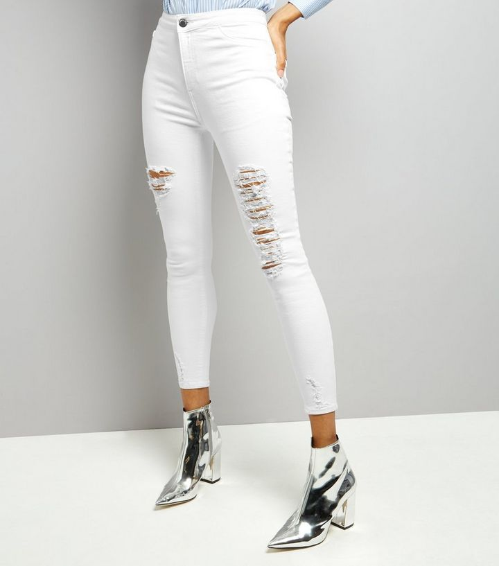 where to buy discount sale retail prices White Ripped Skinny Jenna Jeans Add to Saved Items Remove from Saved Items