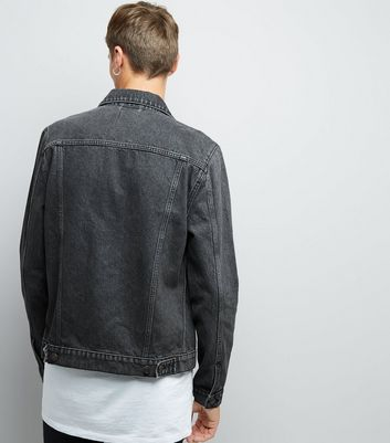 Grey Denim Jacket New Look