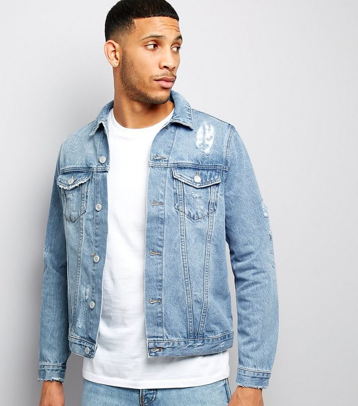 2c7227e76 Blue Ripped Denim Jacket Add to Saved Items Remove from Saved Items