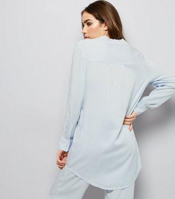 Blue Stripe Print Boyfriend Pyjama Shirt New Look