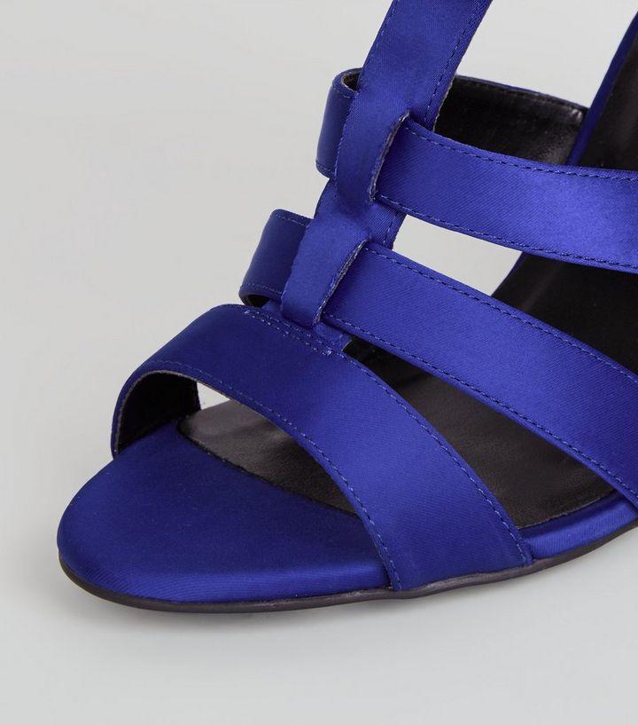 c90dfe4abc5 ... Blue Satin Gladiator Block Heels. ×. ×. ×. VIDEO Shop the look