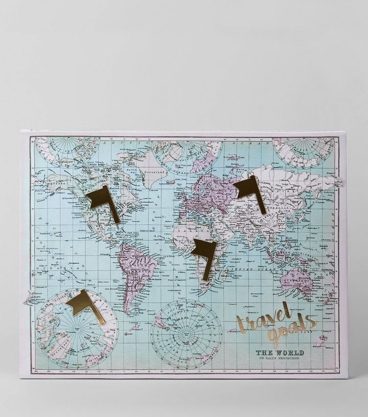Pale blue world map canvas new look shop the look publicscrutiny Choice Image