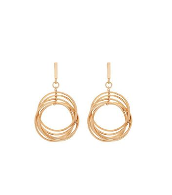 Gold Layered Hoop Earrings New Look