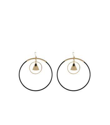 Gold Triangle Hoop Earrings New Look