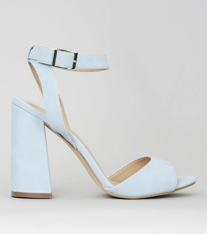 2dc58f36bc4 Pale Blue Block Heels Add to Saved Items Remove from Saved Items