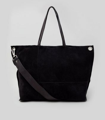 black-suede-stitch-detail-tote-bag