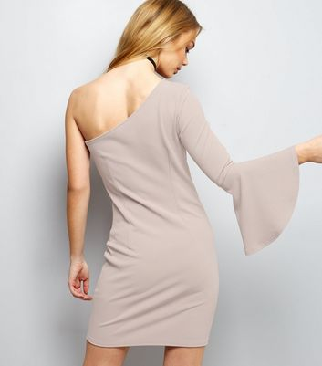 Mink Off The Shoulder Bodycon Dress New Look