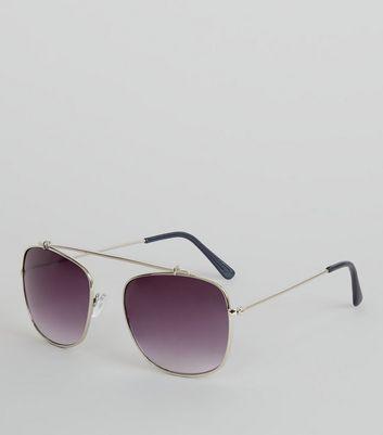 Silver Bridgeless Sunglasses New Look