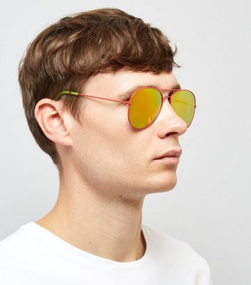 Pink Pilot Sunglasses New Look