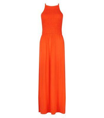 Teens Red Sleeveless Shirred Waist Maxi Dress New Look