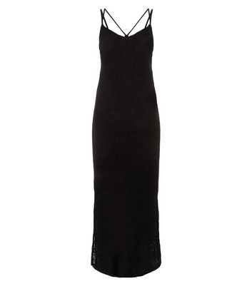 Noisy May Black Cross Strap Back Maxi Dress New Look