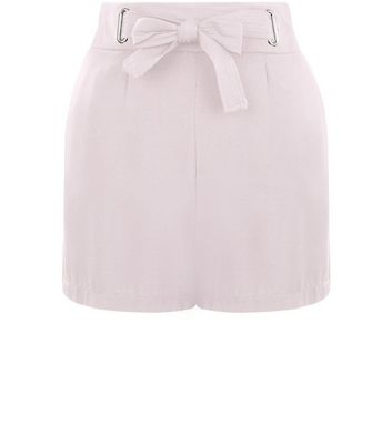 Lilac Tie Waist Shorts New Look