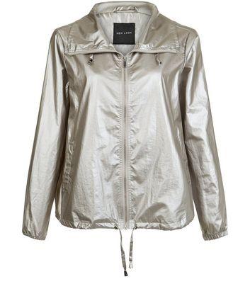 Silver Metallic Fold Away Anorak New Look