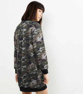 Pull Camouflage New Influence Imprimé À Look Robe Verte xgHvHn8f