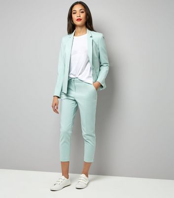 Mint Green Premium Suit Jacket New Look