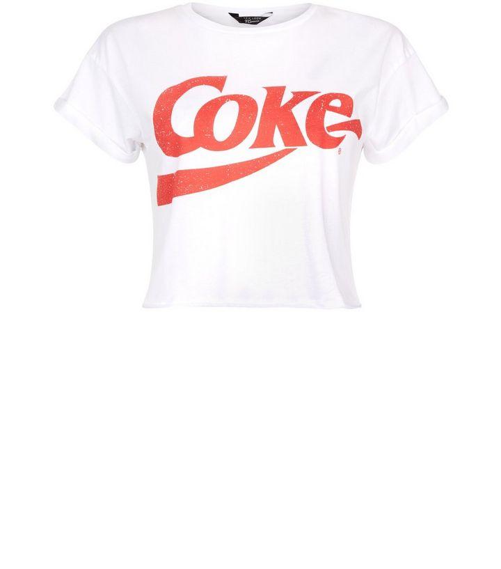 dd012da64 Teens White Coke Print Short Sleeve T-Shirt | New Look