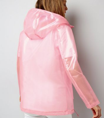 Pink Glitter Anorak New Look