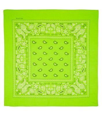 Neon Green Paisley Print Bandana New Look