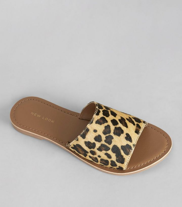 878ada2aa4 Stone Leopard Print Leather Mules Add to Saved Items Remove from Saved Items