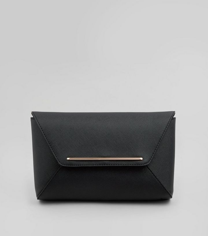 b1ea37cd37bf Black Envelope Clutch Bag