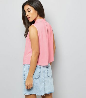 Pink Sleeveless Shirt New Look