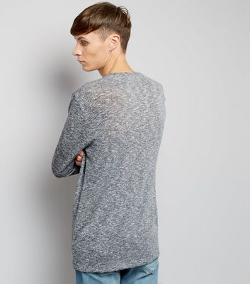 Grey Fine Knit Pocket Front Jumper New Look
