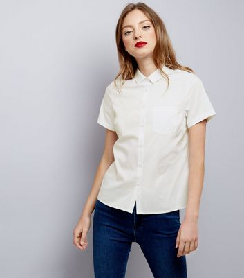 White Short Sleeve Shirt New Look