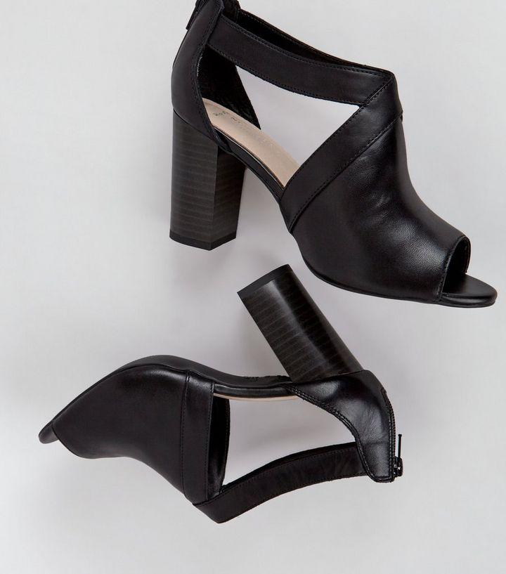 5d6dc20964 ... Wide Fit Black Comfort Cut Out Side Peep Toe Heels. ×. ×. ×. VIDEO Shop  the look