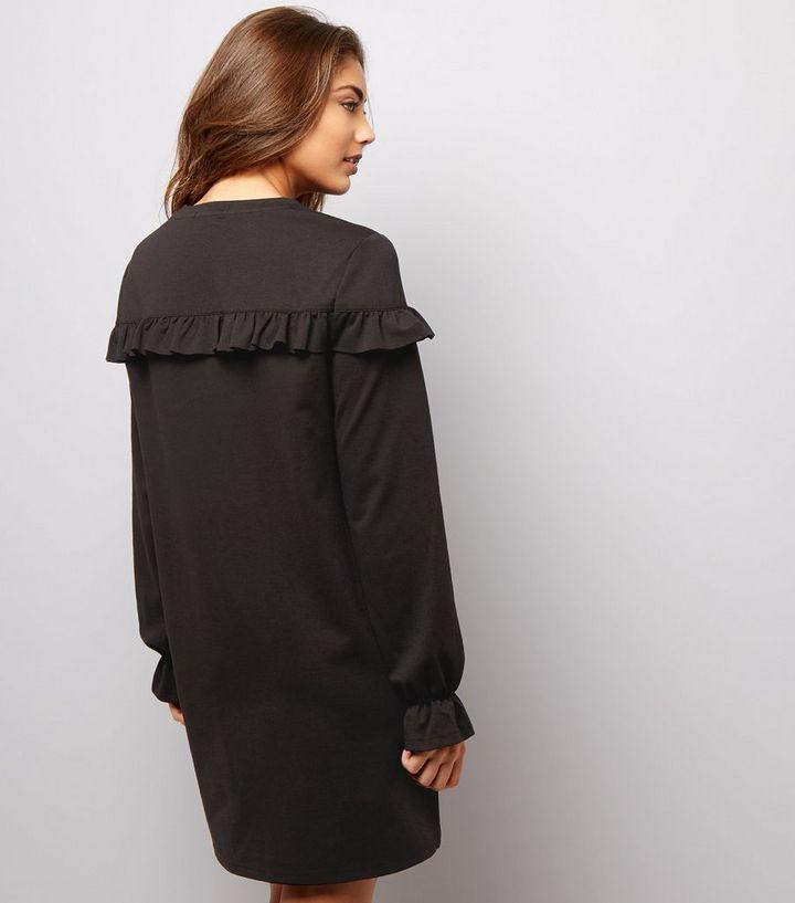 fd3c8b85bd6 ... Black Frill Trim and Cuff Sweater Dress. ×. ×. ×. Shop the look