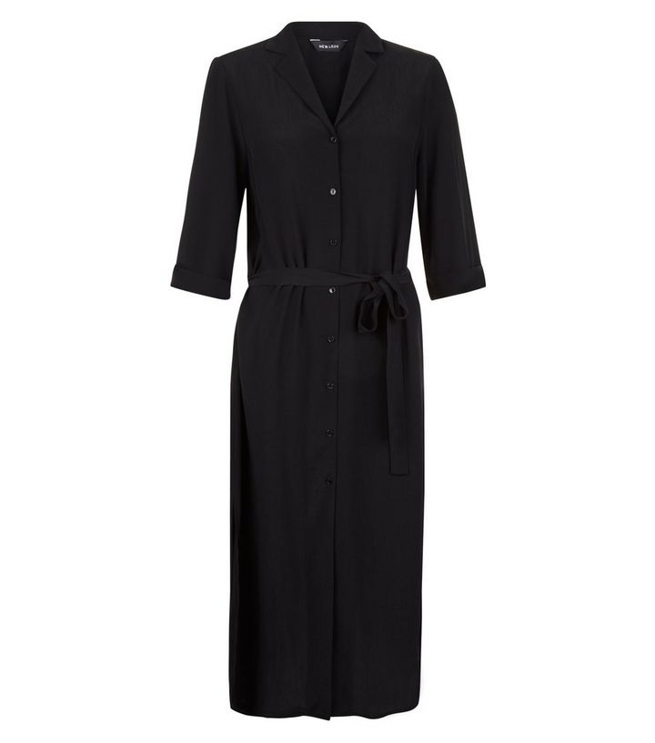 63546cc79aa ... Black 1 2 Sleeve Belted Midi Shirt Dress. ×. ×. ×. Shop the look