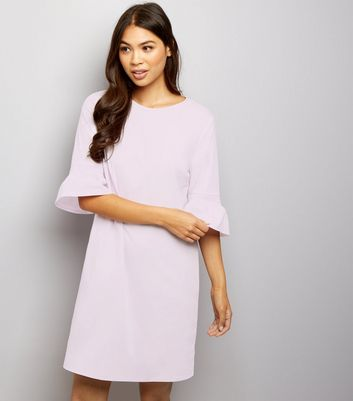 Lilac Bell Sleeve Tunic Dress New Look
