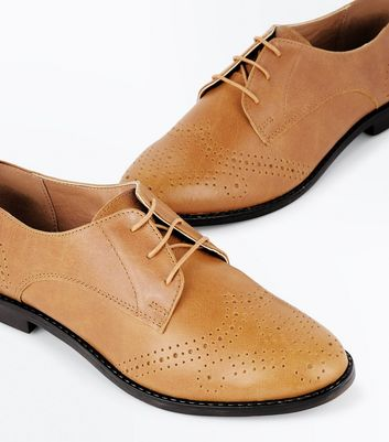 Tan Leather Brogues New Look