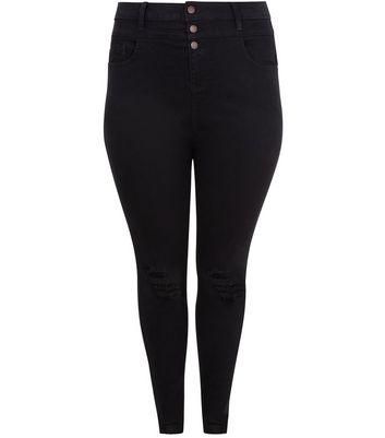 Curves Black High Waist Super Soft Skinny Yazmin Jeans New Look