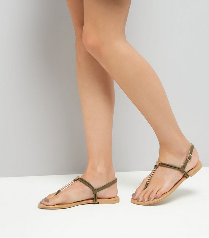0b85af3ae65b ... Wide Fit Khaki Suedette Toe Post Sandals. ×. ×. ×. VIDEO Shop the look