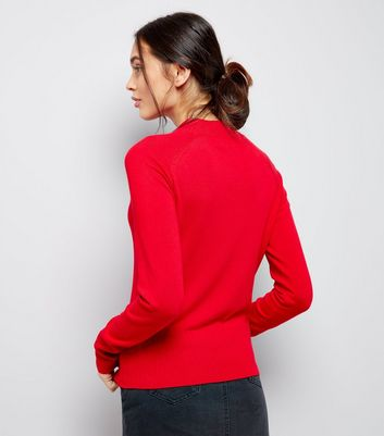Red High Neck Jumper New Look