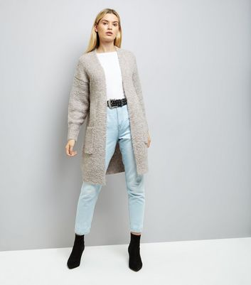 Cream Boucle Oversized Cardigan New Look