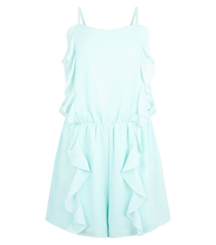 94a241b0777 ... Teens Mint Green Frill Front Playsuit. ×. ×. ×. Shop the look