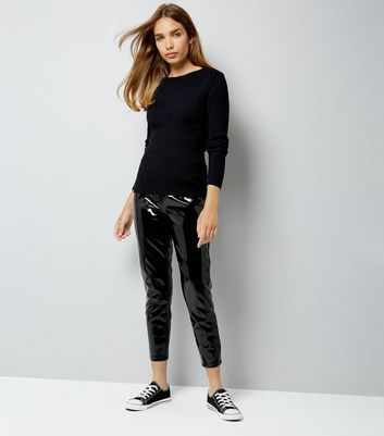 Black Ribbed Jumper New Look