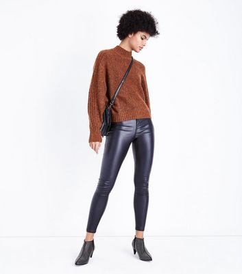 Rust Batwing Sleeve Ribbed Jumper New Look